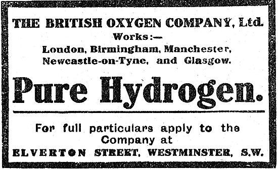 British Oxygen Co Ltd For Pure Hydrogen