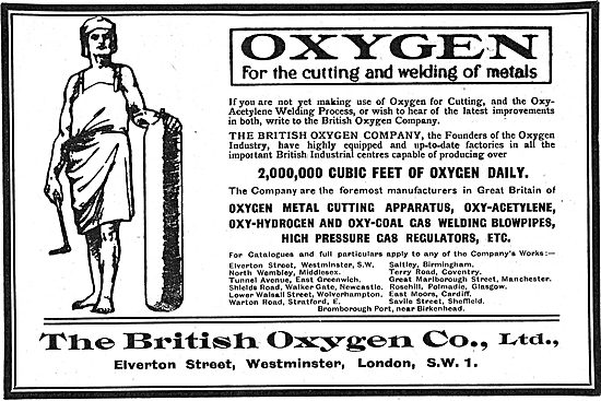 The British Oxygen Co. Oxygen For The Cutting Of Steels.