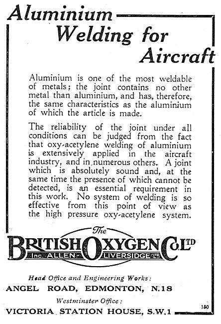British Oxygen Aluminium Welding For Aircraft