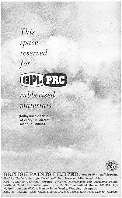British Paints. BPL PRC Rubberised Materials. BPL Sealants