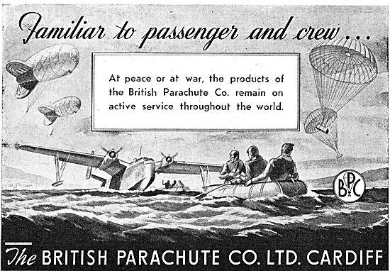 British Parachutes Saving Aircrew  At peace Or At War.