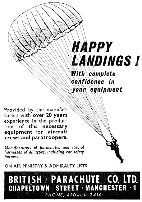 British Parachute Company - Parachutes For Air Drops