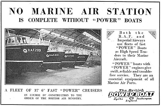 British Power Boat Co - Power Cruisers For Marine Air Stations
