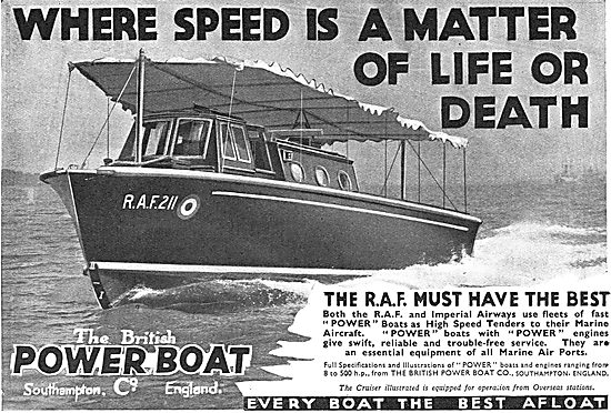 British Power Boat Company - The RAF Must Have The Best
