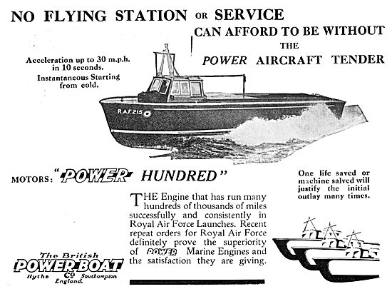 British Power Boat Company General Service Aircraft Tenders 1933s