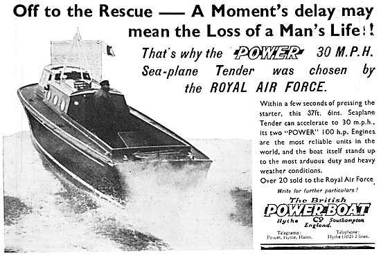 British Power Boat Company Air Sea Rescue Boats