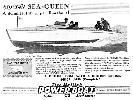 British Power Boat Company Sea-Queen 1933