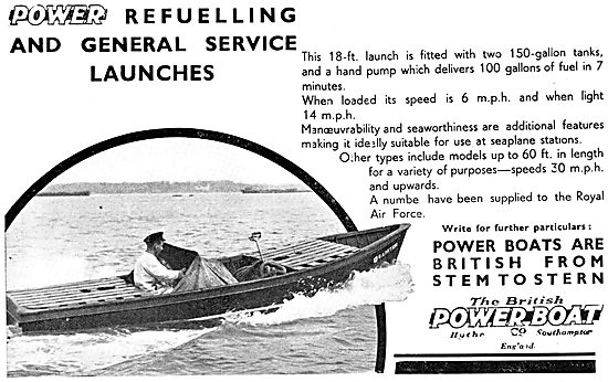 British Power Boat Company. 18' General Service Launch 1933