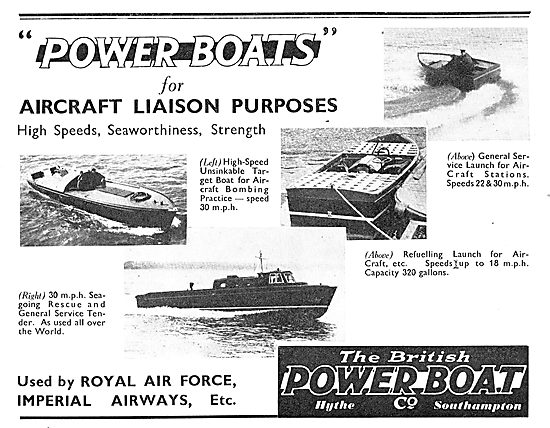 British Power Boat Aircraft Service Launches