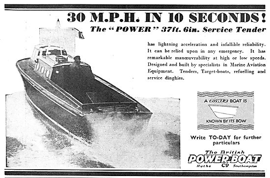 The British Power Boat 37 ft Service Tender