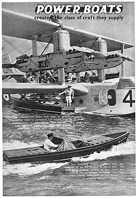 British Power Boat Company - Flying Boat Refuelling Dinghy