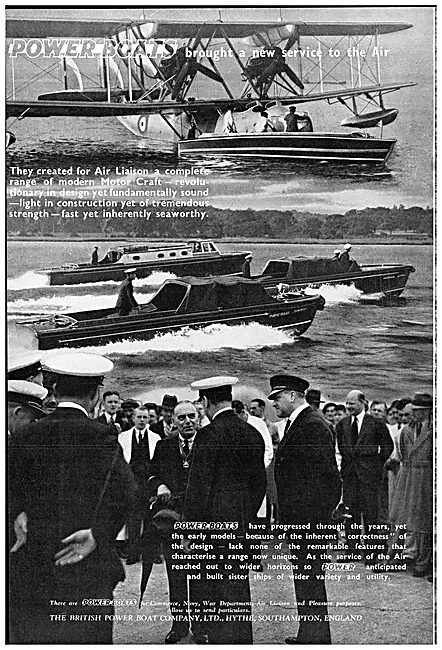 British Power Boat Company Air Liaison Launches 1938