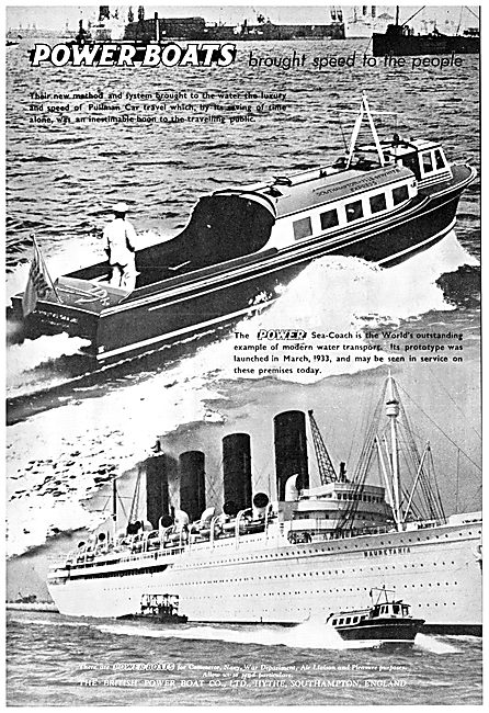 British Power Boat Company Sea-Coach 1938