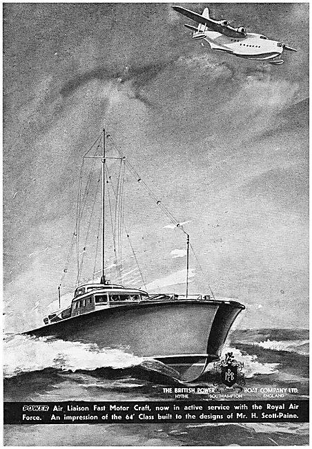 British Power Boat Company Air Liason Fast Motor Marine Craft