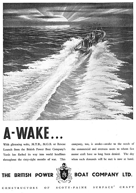 British Power Boat Company MTB & MGB Boats