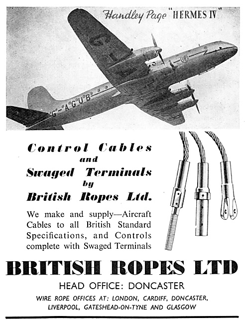 British Ropes Control Cables & Swaged Terminals 1952