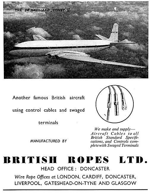 British Ropes Control Cables & Swaged Terminals 1953