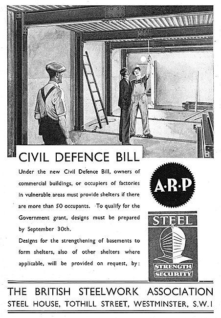 The British Steelwork Association  Civil Defence Air Raid Shelter