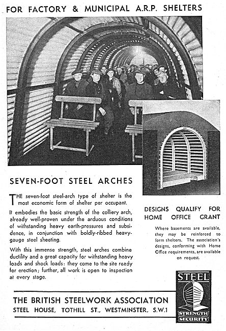The British Steelwork Association : Factory ARP Shelters