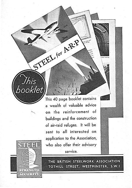 The British Steelwork Association : Air Raid Shelters