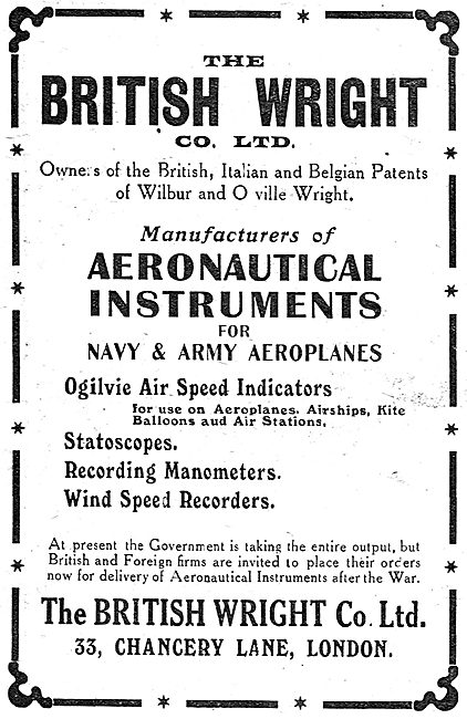 British Wright - Aeronautical Instruments