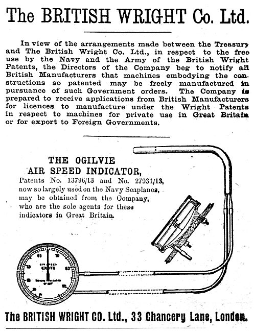 British Wright - The Ogilvie Airspeed Indicator