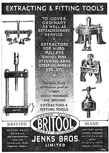 Britool Extracting & Fitting Tools 1943 Advert