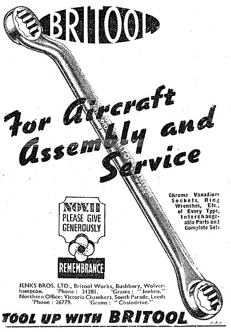 Britool Spanners & Socket Sets For The Aircraft Industry