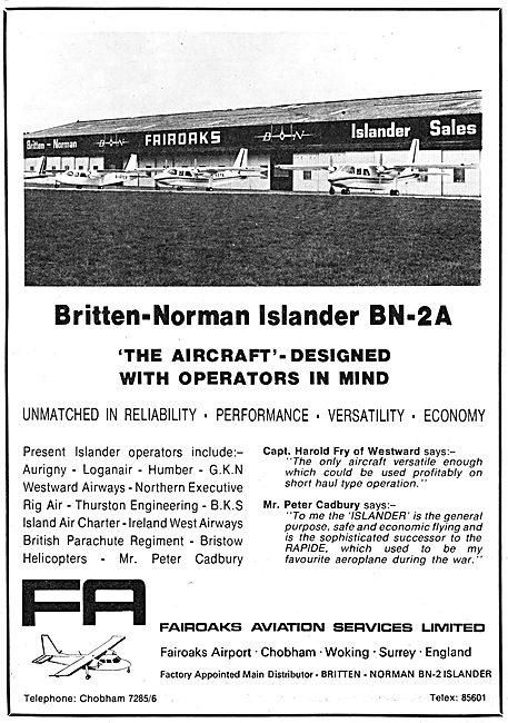 Britten-Norman Islander BN-2A - Fairoaks Aviation
