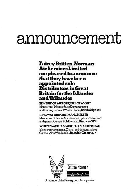 Fairey Britten-Norman Islander - Trislander