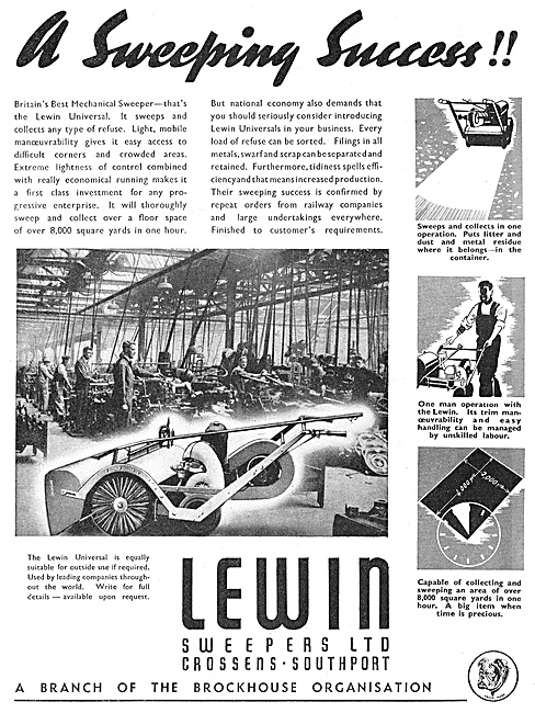 Lewin Mechanical Sweepers - Factory Sweepers