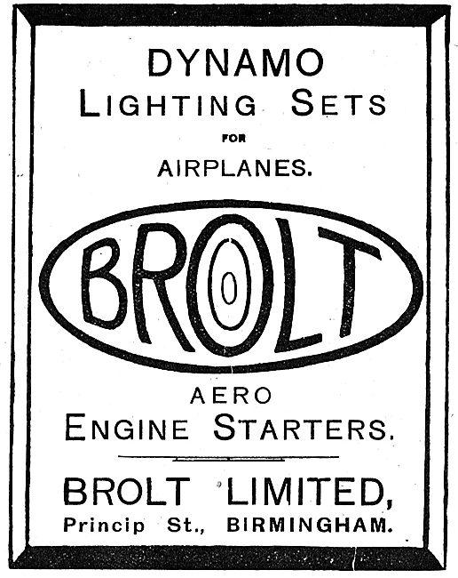 Brolt Ltd. Princip St.  Dynamo Lighting Sets For Aircraft.