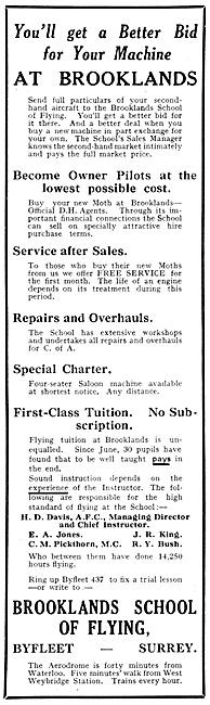 Brooklands School Of Flying