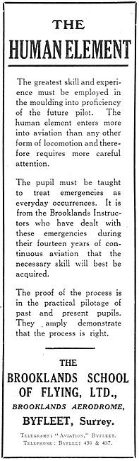 The Brooklands School Of Flying 1929