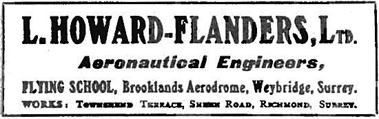 L.Howard-Flanders Aeronautical Engineers & Flying School