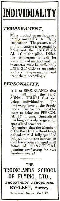 Brooklands School Of Flying - Brooklands Aerodrome