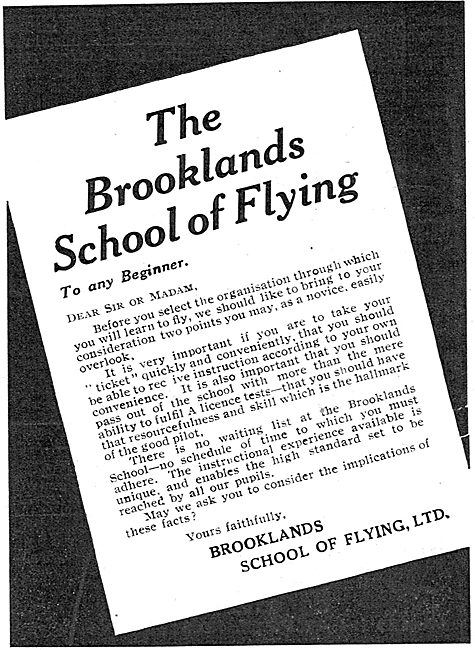 Learn To Fly At The Brooklands School Of Flying
