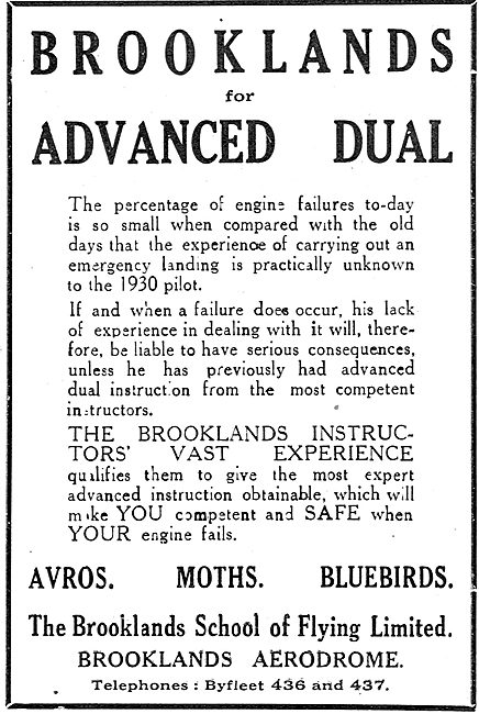The Brooklands School Of Flying For Advanced Dual Instruction