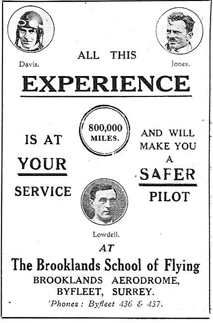 All This Experience Is At Your Service - Brooklands Flying School