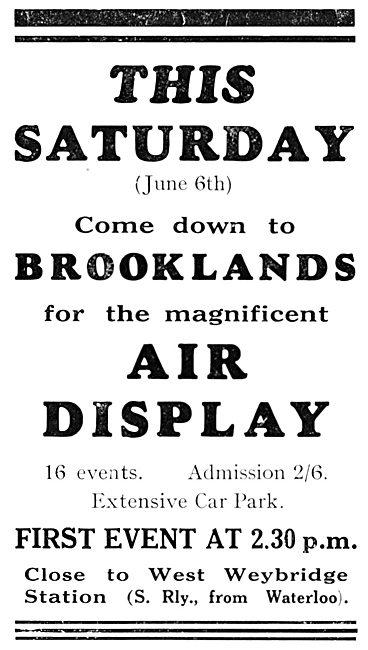 Brooklands Air Display June 6th 1931