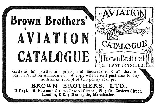 Write For The Brown Brothers Aviation Catalogue