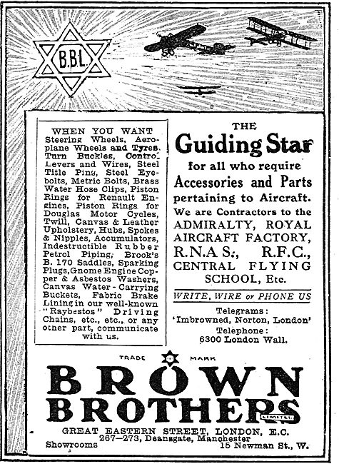 Brown Brothers - The Guiding Star For Aircraft Parts