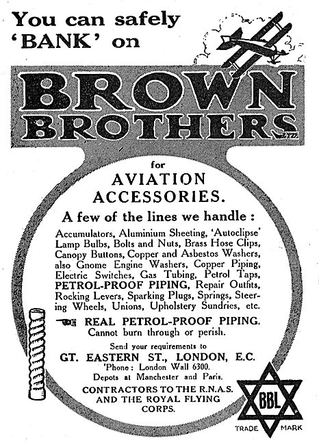 You Can Safely Bank On Brown Brothers For Aviation Accessories