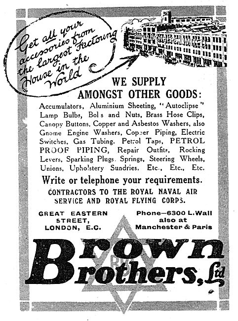 Brown Brothers Aircraft Parts & Other Items