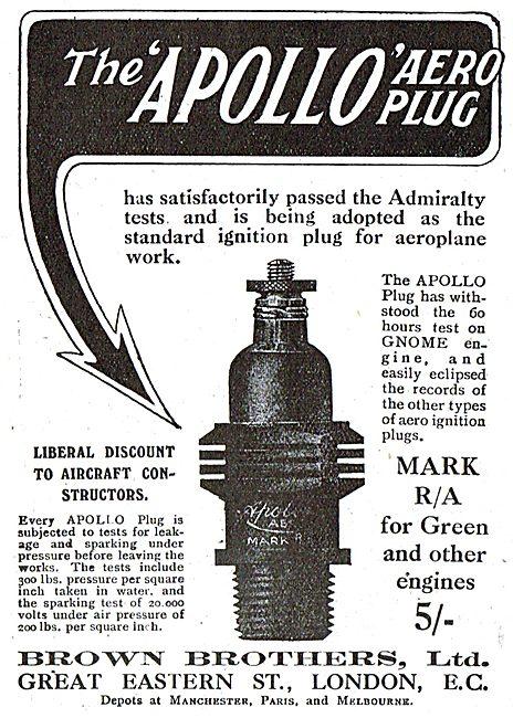 The Brown Brothers Apollo Aero Plug. Discounts To Constructors