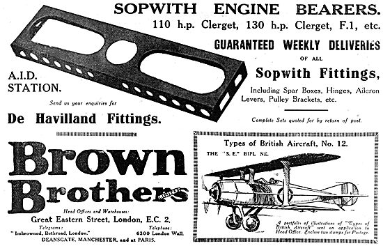 Brown Brothers - Aircraft Parts Stockists