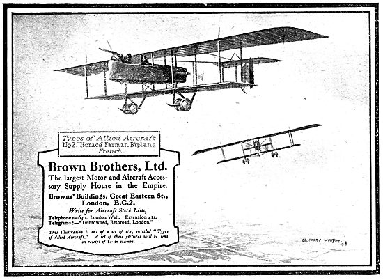Brown Brothers Aircraft Parts Manufacturers & Stockists