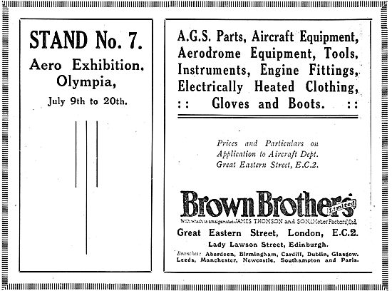 Brown Brothers AGS Parts On Show At 1920 Olympia