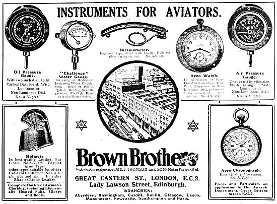 Brown Brothers. Aircraft Instruments 1920