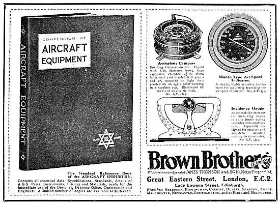 Brown Brothers. Aircraft Parts, Accessories & AGS